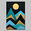 رخيصةأون لوحات تجريدية-هانغ رسمت النفط الطلاء رسمت باليد - تجريدي مناظر طبيعية الحديث تشمل الإطار الداخلي / امتدت قماش