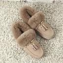 preiswerte Hochzeitsschuhe für Damen-Damen Schuhe Wildleder Winter Komfort Slippers & Flip-Flops Flacher Absatz Schwarz / Braun / Mandelfarben
