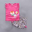 ieftine Seturi Îmbrăcăminte Fete-Copil Fete De Bază Mată Fără manșon Poliester Set Îmbrăcăminte Roz Îmbujorat 100