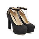 preiswerte Damen Heels-Damen PU Frühling Komfort / Pumps High Heels Stöckelabsatz Gold / Schwarz / Silber / Alltag