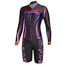 cheap Cycling Jerseys-Malciklo Women's Long Sleeve Triathlon Tri Suit - Black Camouflage / British Bike Quick Dry, Breathable Coolmax® / Lycra