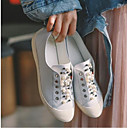 povoljno Ženske tenisice-Žene Cipele Mekana koža Proljeće / Ljeto Udobne cipele Sneakers Ravna potpetica Zatvorena Toe Obala / Crn