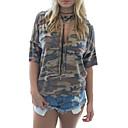 ieftine Seturi de bijuterii-tricou pentru femei - camuflaj cu capișon