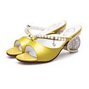 povoljno Ženske sandale-Žene Cipele Mekana koža Ljeto Udobne cipele Sandale Heterotipski peta Pink / Bijela / Zelen