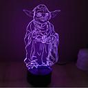 billige Originale lamper-1pc 3D nattlys Usb For barn / Kreativ / Berør sensoren