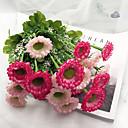 זול פרח מלאכותי-פרחים מלאכותיים 1 ענף קלאסי מזרחי / ארופאי חינניות פרחים לשולחן