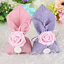 cheap Christmas Party Supplies-irregular Linen / Cotton Blend Favor Holder with Ribbons Favor Bags - 12pcs