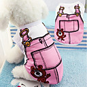 cheap Dog Clothes-Soft Cotton Dog Vest False Straps Pet Clothes Cute Cartoon Puppy Costume