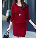 abordables Intermitentes para Coche-Mujer Conjunto - Un Color Falda
