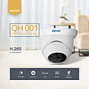 billige Sensorer og alarmer-escam qh001 onvif h.265 1080p p2p ir dome ip kamera med smart analyse funksjon