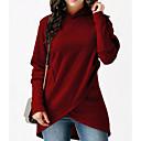 billige Hættetrøjer og sweatshirts til damer-Dame Løstsiddende Lang Hattetrøje - Ensfarvet