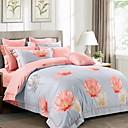 tanie Floral Duvet Okładki-Zestawy kołdra okładka Kwiaty / Geometric Shape 100% bawełna Reactive Drukuj 4 elementy