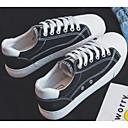 رخيصةأون أحذية نسائية-للمرأة أحذية الراحة كانفا ربيع & الصيف أحذية رياضية كعب مسطخ أبيض / أسود / أحمر