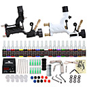 cheap Men's Necklaces-Tattoo Machine Starter Kit - 2 pcs Tattoo Machines with 20 x 5 ml tattoo inks, Professional, Safety, Easy to Install Alloy LCD power supply Case Not Included 2 rotary machine liner & shader
