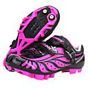رخيصةأون ختم الأظافر-SIDEBIKE Mountain Bike Shoes ألياف الكربون مقاوم للماء, متنفس, مكافح الانزلاق ركوب الدراجة أسود / أحمر نسائي / شبكة قابلة للتنفس / توسيد / تهوية
