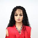 ieftine Peruci Păr Uman-Păr Remy Față din Dantelă Perucă Păr Brazilian Afro Kinky Negru Perucă Frizură Asimetrică 130% 150% Densitatea părului cu păr de păr Dame Dressing ușor sexy Lady Natural Negru Pentru femei Lung
