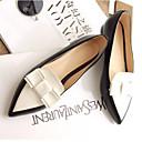 olcso Női topánkák és vászoncipők-Női Kényelmes cipők PU Tavasz / Nyár Papucsok & Balerinacipők Alacsony Zárt orrú Fekete
