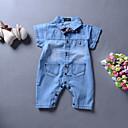 ieftine Pantaloni Băieți-Bebelus Băieți De Bază Mată Mânecă scurtă Bumbac O - piesă