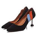 povoljno Ženske ravne cipele-Žene Cipele Brušena koža Proljeće Udobne cipele Cipele na petu Stiletto potpetica Crn / Badem