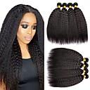 halpa Aitohiusperuukit-6 pakettia Perulainen Yaki 8A Aidot hiukset Hiukset kutoo Bundle Hair Yksi pakkaus ratkaisu 8-28 inch Luonnollinen väri Hiukset kutoo Paras laatu 100% Neitsyt Hiukset Extensions Naisten