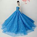 baratos Acessórios de Boneca-Vestidos Vestir Para Boneca Barbie Azul Tule / Renda / Lantejoula Vestido Para Menina de Boneca de Brinquedo