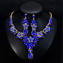 cheap Jewelry Sets-Women's Classic Jewelry Set - Stylish, European, Elegant Include Drop Earrings Necklace Green / Blue / Dark Red For Wedding Daily