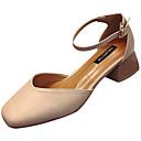 זול סנדלי נשים-בגדי ריקוד נשים PU סתיו בלרינה בייסיק עקבים עקב עבה בוהן מרובעת בז' / חום / שקד / יומי