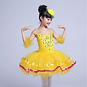 baratos Roupas Infantis de Dança-Balé Vestidos Para Meninas Espetáculo Elastano Franzido Sem Manga Tutus