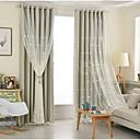 preiswerte Gardinen-Verdunklungsvorhänge Vorhänge Schlafzimmer Solide 100% Polyester Stickerei