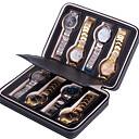 זול אחסון תכשיטים-אִחסוּן אִרגוּן אוסף תכשיטים עור PU צורה מלבנית כריכה פתוחה