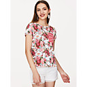 baratos Sapatilhas Femininas-Mulheres Camiseta Básico Floral