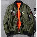 זול נעלי ספורט לגברים-בגדי ריקוד גברים שחור כחול נייבי ירוק צבא XXL XXXL 4XL ג'קט מידות גדולות קולור בלוק ספורט / שרוול ארוך / חורף