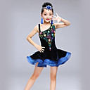 olcso Tánc kiegészítők-Latin tánc Ruhák Lány Teljesítmény Spandex Kombinált Ujjatlan Magas Ruha