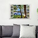 billige Wall Tapestries-Dekorative Mur Klistermærker - 3D mur klistermærker Landskab Stue / Soveværelse / Badeværelse / Kan genpositioneres