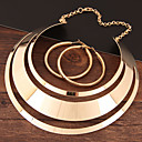 cheap Jewelry Sets-Women's Hollow Jewelry Set Statement, Ladies, Simple, European, Elegant Include Hoop Earrings Necklace Gold / Silver For Evening Party