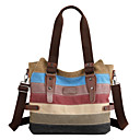 cheap Shoulder Bags-Women's Bags Canvas Shoulder Bag Zipper Rainbow