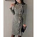 رخيصةأون باروكات كابلس صناعية-فستان نسائي ثوب ضيق فوق الركبة ضيق قبعة القميص مناسب للخارج