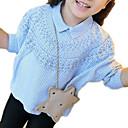 povoljno Majice za djevojčice-Djeca Djevojčice Osnovni Dnevno Prugasti uzorak Dugih rukava Regularna Poliester Majica Svjetloplav 100