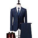 cheap Men's Necklaces-Men's Suits-Floral Peaked Lapel / Long Sleeve