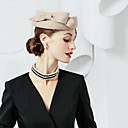 cheap Party Headpieces-100% Wool Hats with Bowknot 1pc Special Occasion / Party / Evening Headpiece