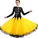 رخيصةأون ملابس رقص لاتيني-Ballroom Dance الفساتين للمرأة التدريب نايلون / أورجنزا / تول كريستال / أحجار الراين كم طويل ارتفاع عال فستان