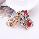 رخيصةأون ملابس الكلاب-قط سلسلة المفاتيح أحمر غير منتظم, حيوان تقليد الماس, سبيكة غطاءمغطى بالالماس / حجر كريم, حلو من أجل هدية / مواعدة