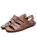 tanie Męskie mokasyny-Męskie Komfortowe buty Skóra bydlęca Lato Sandały Jasnobrązowy / Ciemnobrązowy / Na zewnątrz