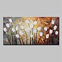 abordables Óleos-Pintura al óleo pintada a colgar Pintada a mano - Abstracto Floral / Botánico Modern Incluir marco interior / Lona ajustada