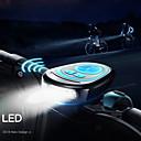رخيصةأون قبعات و باندانا للرأس-دراجة القرن الخفيفة LED اضواء الدراجة ركوب الدراجة ضد الماء, قابل للتعديل, خفة الوزن 250 lm USB أخضر / ABS / IPX-4 / وسائط متعددة