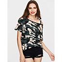 ieftine Cercei la Modă-Pentru femei De Pe Umăr Elasticity Tricou camuflaj Imprimeu