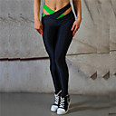 cheap Fitness, Running & Yoga Clothing-Women's Cut Out Yoga Pants Green Pink Light Blue Sports Color Block Tights Leggings Zumba Running Fitness Activewear Breathable Quick Dry Compression Micro-elastic / Butt Lift