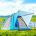 cheap Robe Hooks-BSwolf 4 person  Outdoor Family Tent Windproof Rain-Proof Breathability Wearable Automatic One Room Double Layered 1500-2000 mm Camping Tent  for Fishing Beach Camping / Hiking / Caving Tulle Oxford