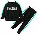ieftine Set Îmbrăcăminte Bebeluși-Copii Băieți De Bază Dungi / Geometric / Bloc Culoare Manșon Lung Bumbac Set Îmbrăcăminte