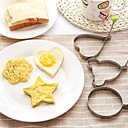 billige Bakeredskap-rustfritt stål omelett egg steke mold elsker blomst rund stjerne molds